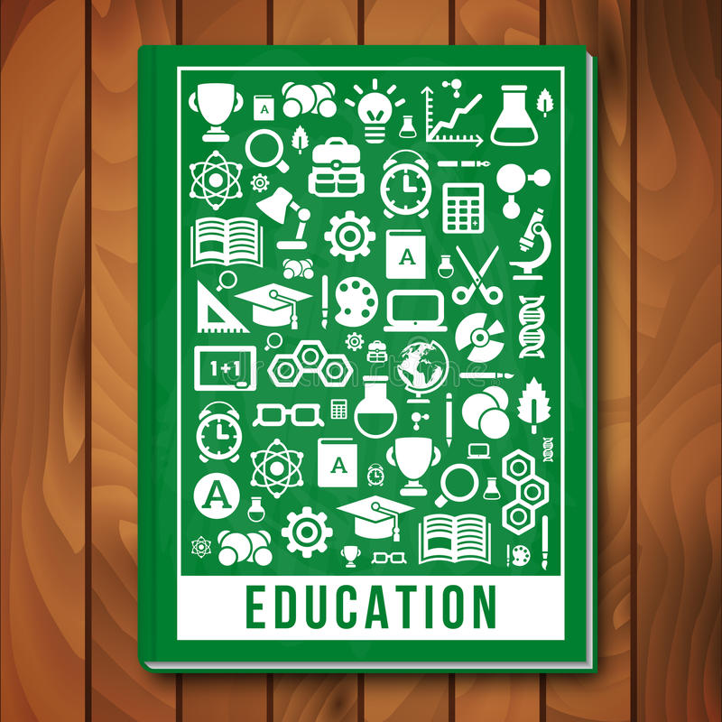 Book Cover Design Education : Vector education concept e learning and science stock
