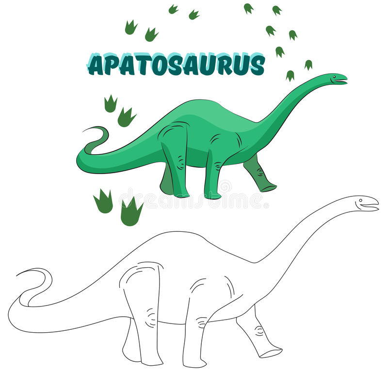 Vector Educativo Del Dinosaurio Del Libro De Colorear Del Juego ...