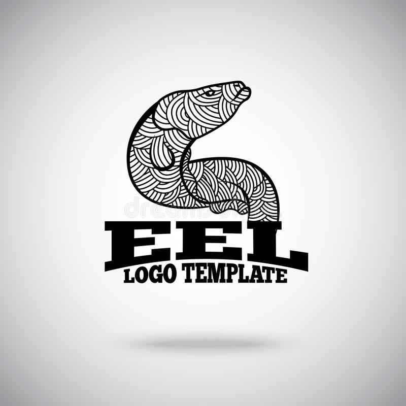 Vector Eel logo concept for sport teams, business etc.  stock illustration