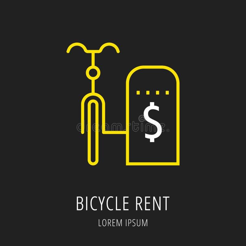 Vector Eenvoudig Logo Template Cycling stock illustratie