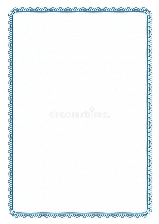 Vector eenvoudige blauwe kadergrens met beschermend netwerk voor diploma, certificaat vector illustratie