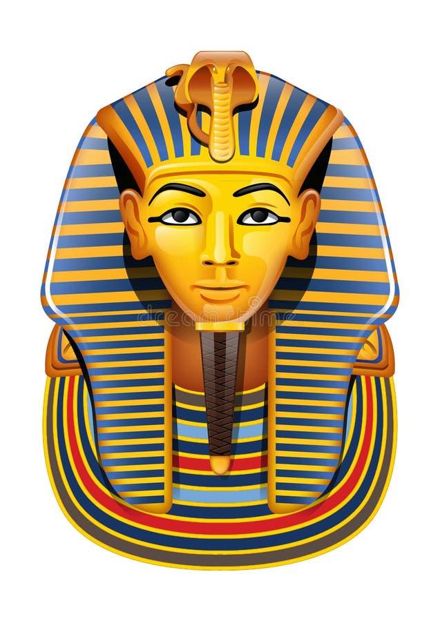 Vector Egypt Pharaon mask stock illustration