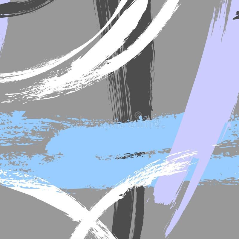 Vector eigentijdse geometrische hand Getrokken driehoekstextuur De buitensporige kaart van hipstermemphis Textuurjaren '90, de ja vector illustratie