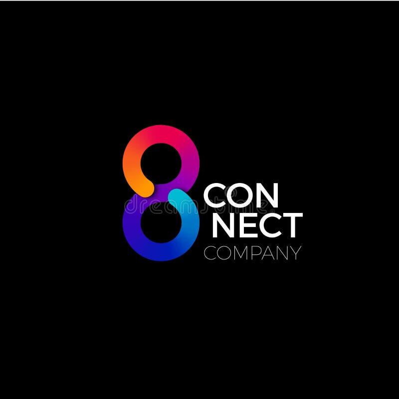 Vector Eindeloos verbindt Symbool Het kleurrijke Concept van verbindt, Interactie en Samenwerking Bedrijfs Creatief Embleem stock illustratie