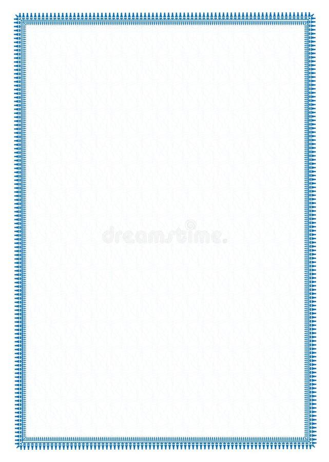 Vector einfache blaue Rahmen Grenze mit schützender Masche für Diplom, Zertifikat vektor abbildung