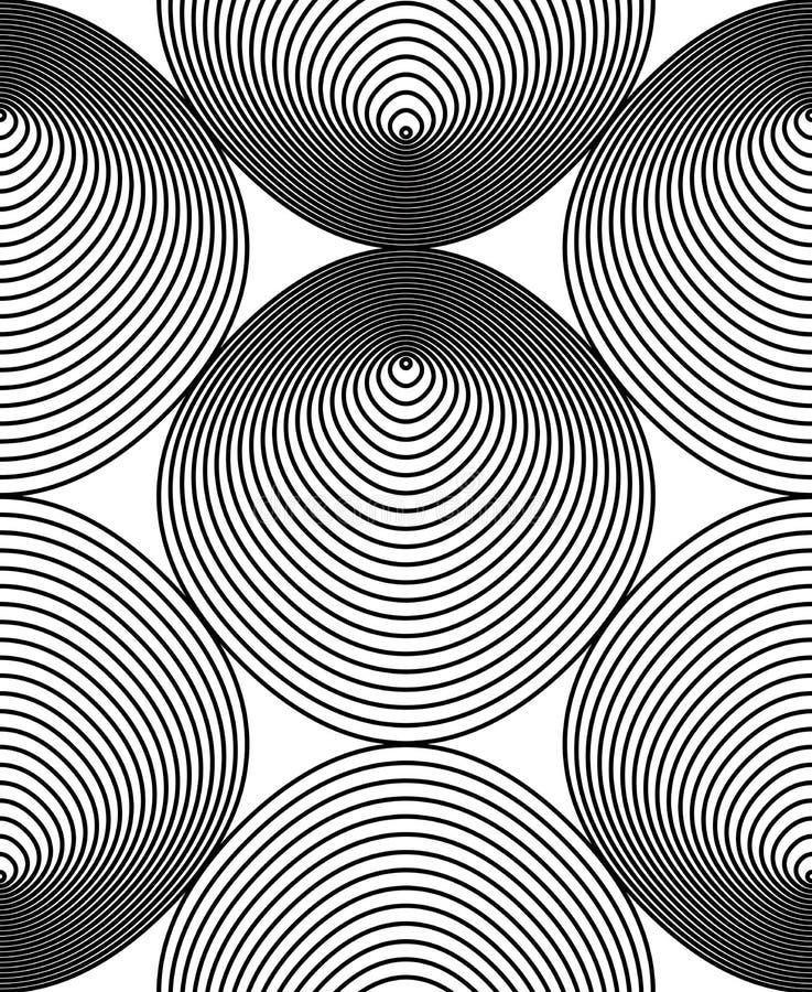 Vector einfarbiges gestreiftes endloses Muster, Kunst ununterbrochenes geometr vektor abbildung