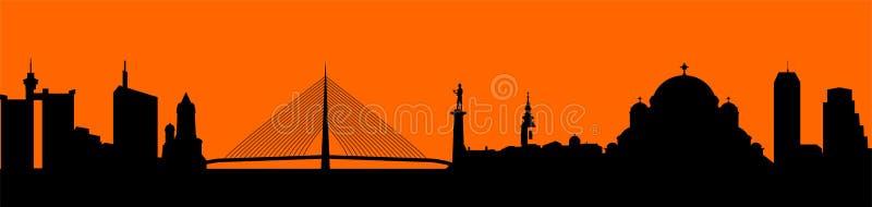 Vector - ejemplo de la silueta del horizonte de la ciudad fotos de archivo libres de regalías