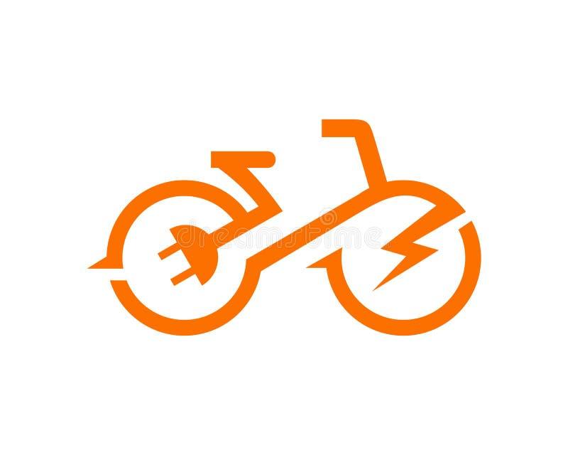 Vector eléctrico de la plantilla de la bici stock de ilustración