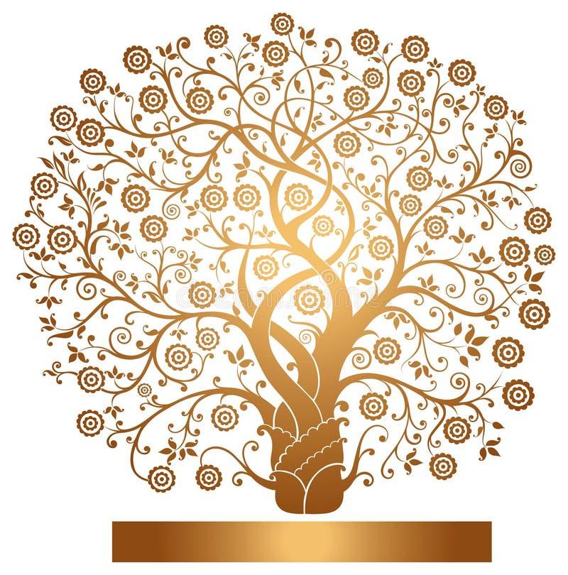 Vector el árbol del oro stock de ilustración