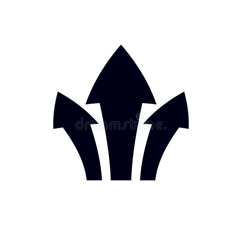 Vector el alza encima de la flecha, elemento del diseño gráfico Corporativo conviértase ilustración del vector