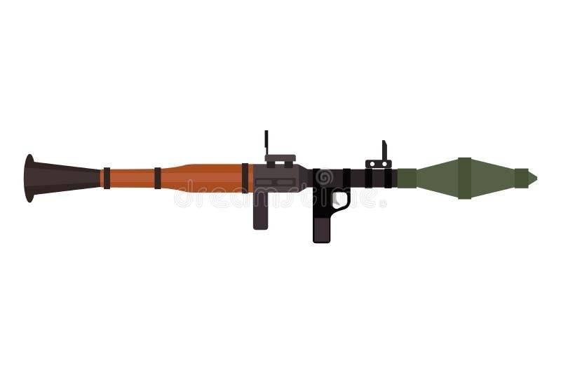 Vector el arma pesada del rifle de asalto con el icono del lanzagranadas ilustración del vector