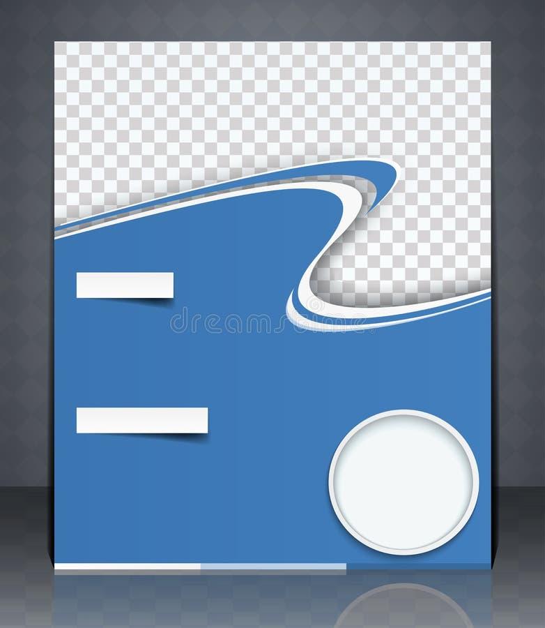 Vector el aviador de la disposición, la portada de revista, o el anuncio de la plantilla del diseño corporativo, color azul ilustración del vector