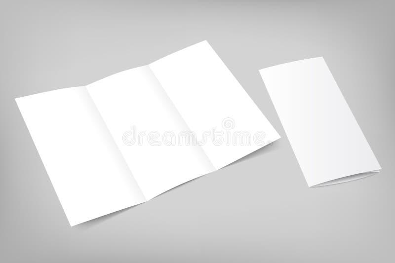 Vector el aviador triple en blanco con la cubierta en gris ilustración del vector