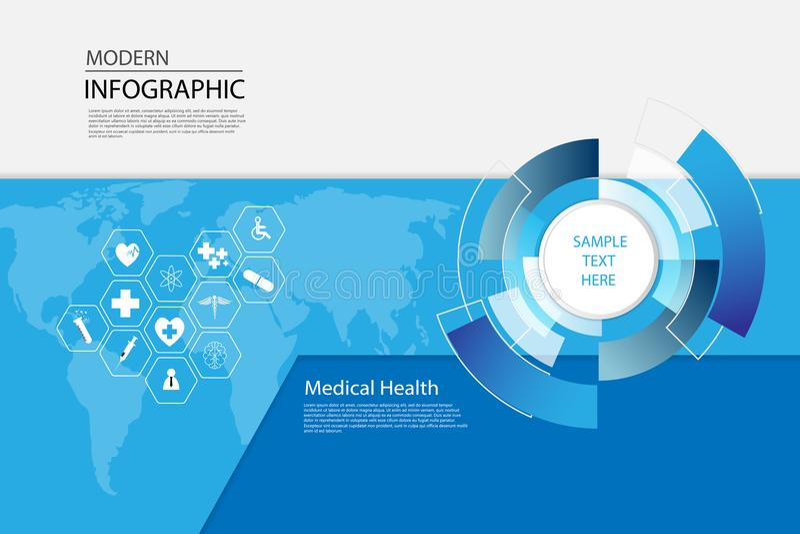 Vector el backgro médico del concepto del icono de la ciencia abstracta de la atención sanitaria libre illustration