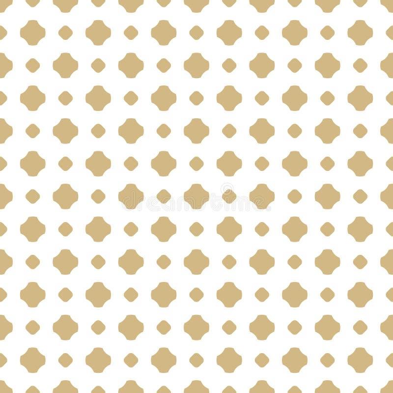 Vector el blanco y el modelo inconsútil ornamental del oro con formas florales Diseño de lujo para la decoración, impresiones ilustración del vector