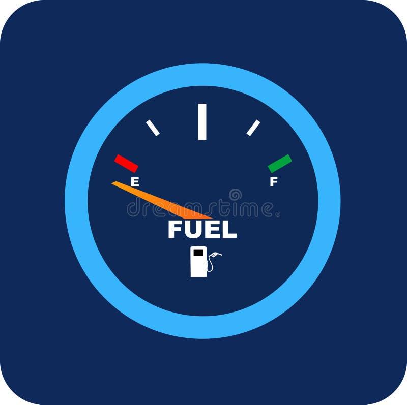 Vector el calibrador de combustible stock de ilustración