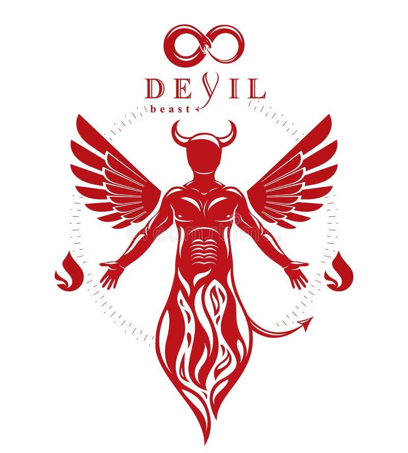 Vector el carácter individual, místico hecho con las alas y emerger libre illustration