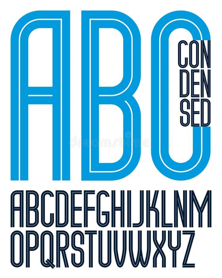 Vector el collectio capital condensado alto de las letras del alfabeto inglés libre illustration