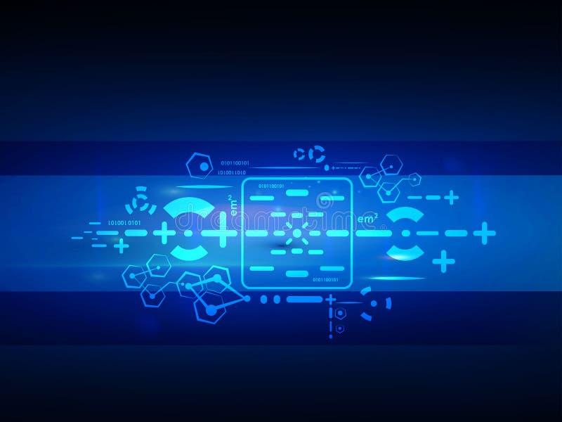 Vector el concepto futuro de la tecnología digital, fondo abstracto imagenes de archivo