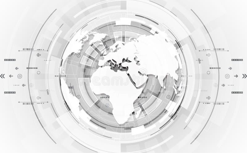 Vector el concepto global digital de la tecnología, fondo abstracto libre illustration