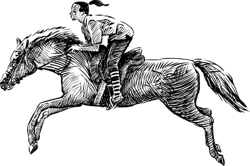 Galope ilustración del vector