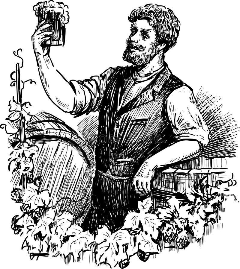 Cervecero stock de ilustración