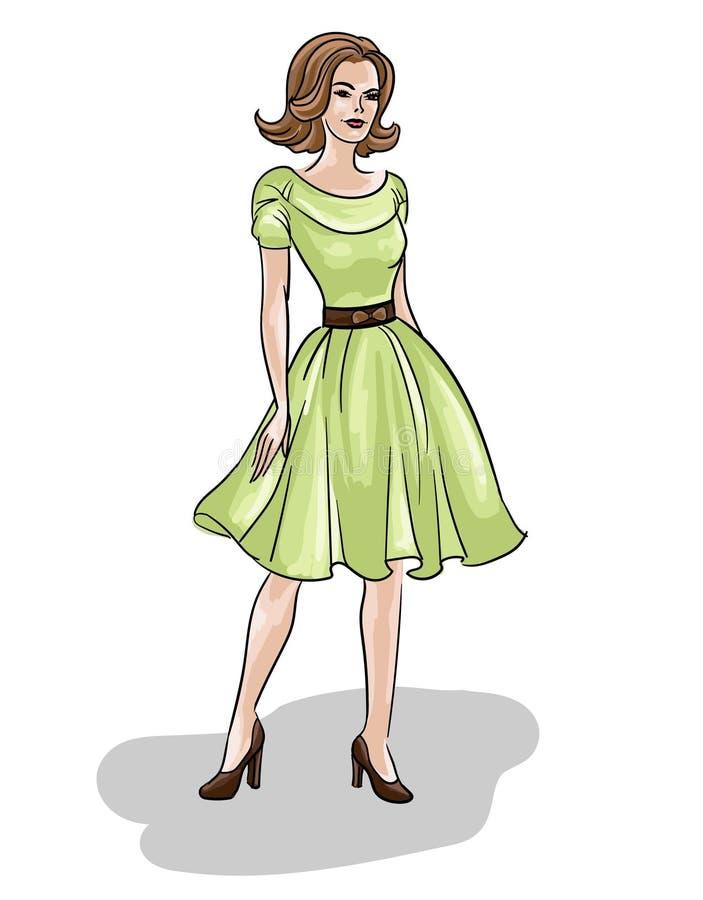 VECTOR El Dibujo Original Elegante De La Moda Con El Cuerpo De Un ...