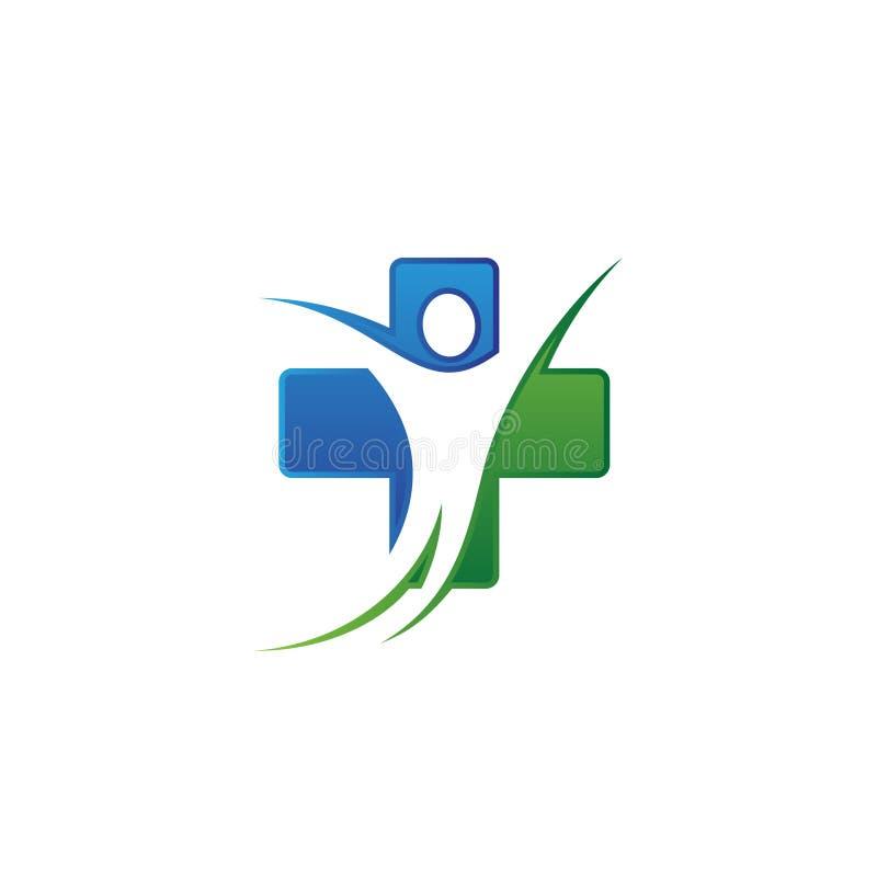 Vector el diseño de concepto para el doctor sano de la clínica de la familia de la atención sanitaria libre illustration