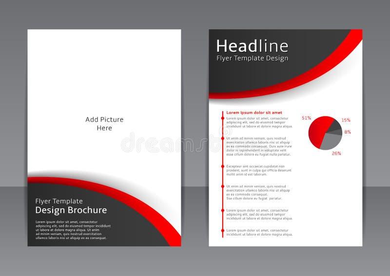 Vector el diseño del aviador blanco y negro, cubierta, folleto, cartel, informe con los elementos rojos ilustración del vector