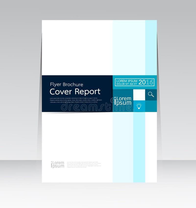 Vector el diseño para el cartel anual del aviador del folleto del informe de la cubierta de tamaño A4 ilustración del vector
