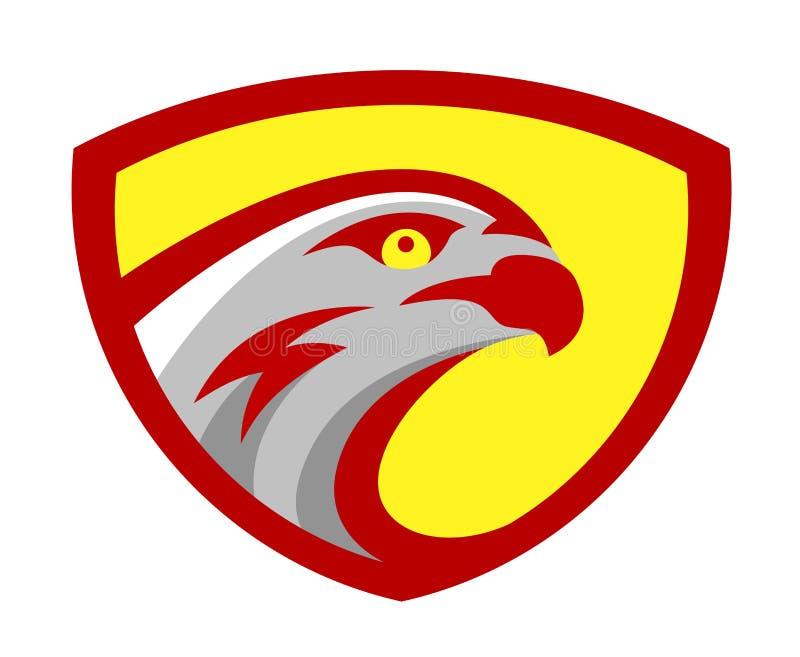 Vector el diseño principal de la mascota del logotipo del equipo del juego del juego del deporte del halcón o del halcón Muestra  libre illustration