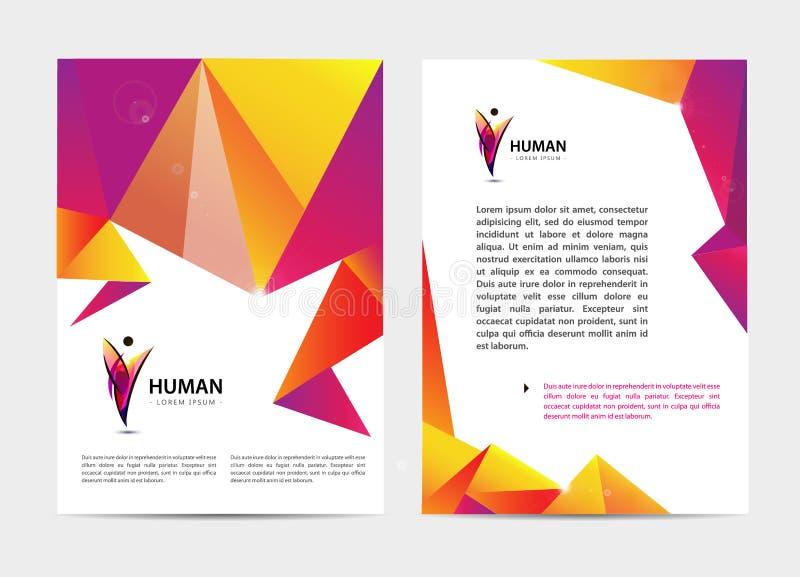Vector el documento, folleto de la cubierta del estilo de la letra o del logotipo y maqueta del diseño de la plantilla del papel  ilustración del vector