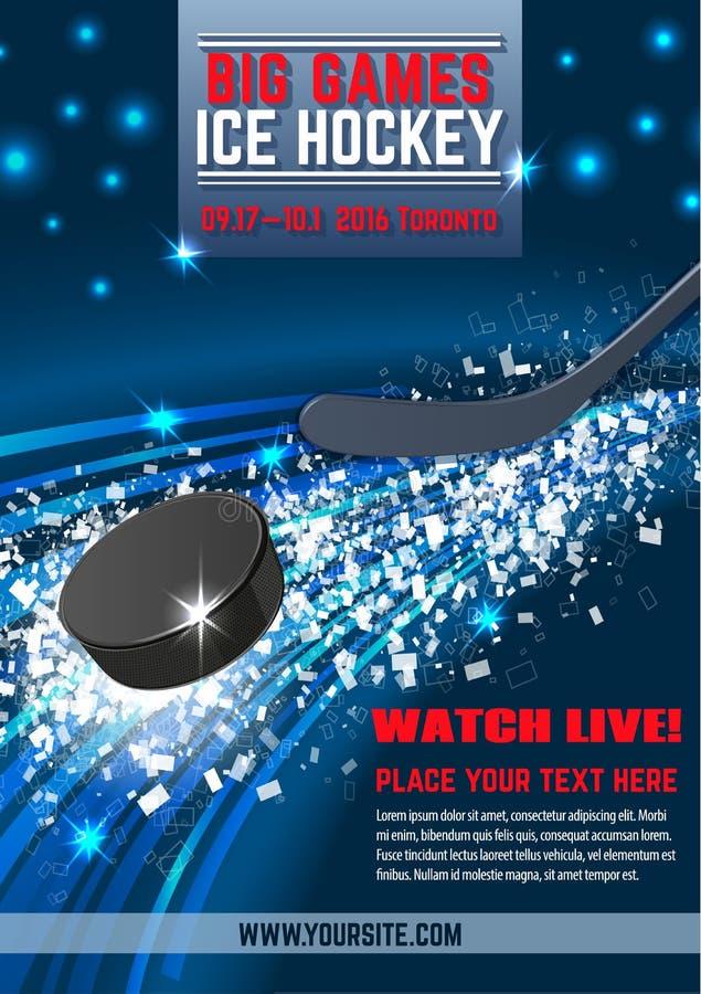 Vector el duende malicioso del hockey sobre hielo y la composición dinámica del palillo ilustración del vector