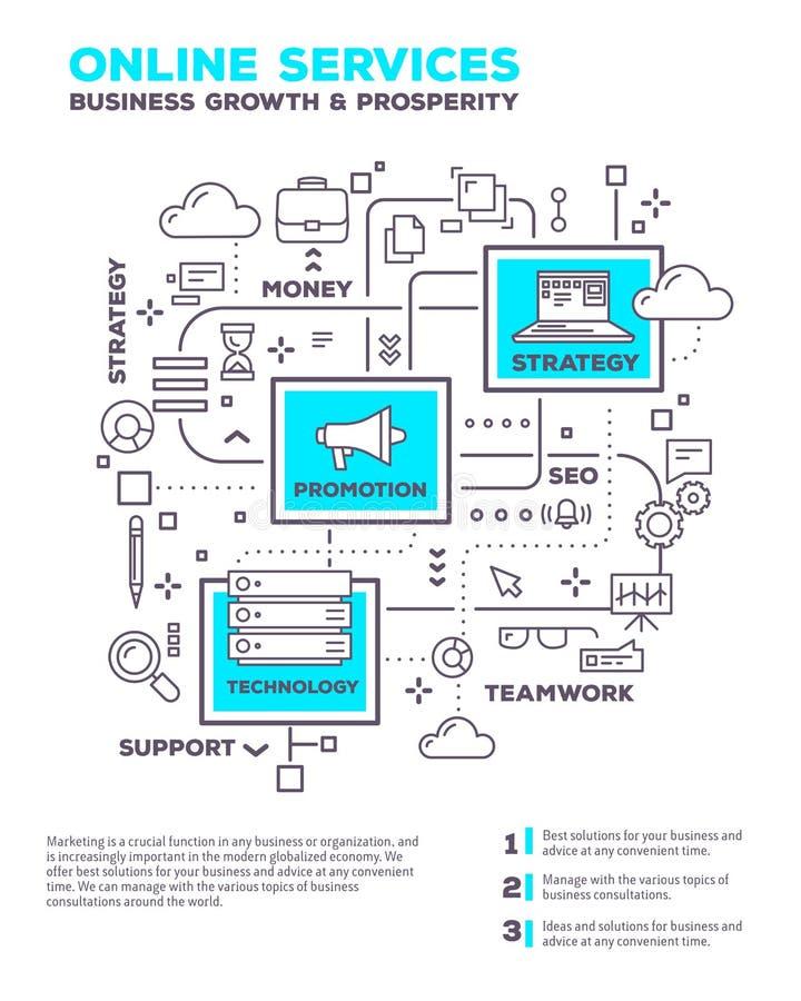 Vector el ejemplo creativo del concepto del proyecto w del negocio del gráfico stock de ilustración