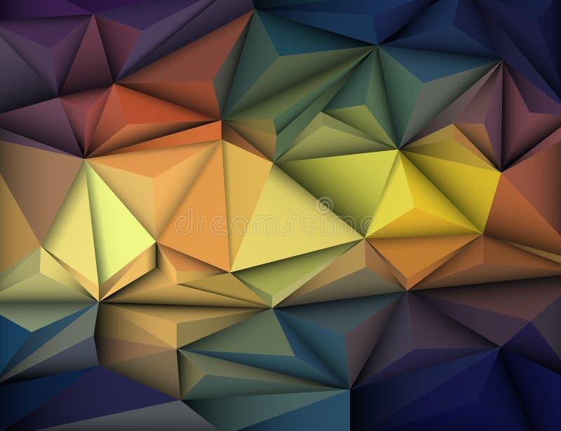 Vector el ejemplo 3D abstracto geométrico, poligonal, modelo del triángulo ilustración del vector