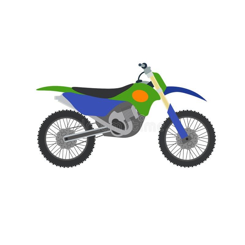 Vector el ejemplo de la bici del motocrós aislado en el fondo blanco stock de ilustración