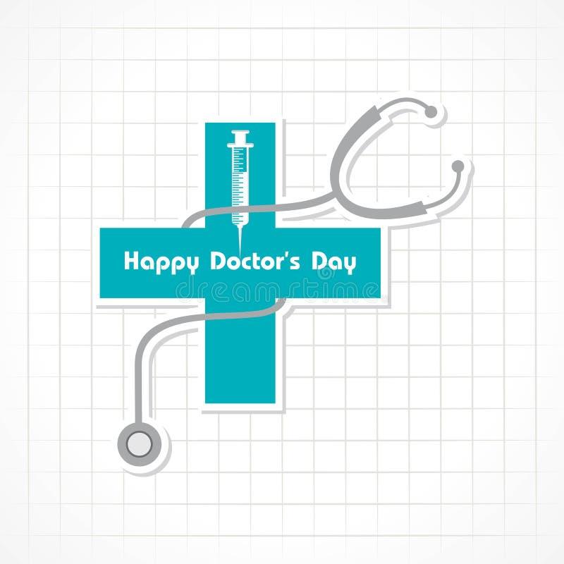 Vector el ejemplo de la imagen de la acción de los doctores Day del nacional ilustración del vector