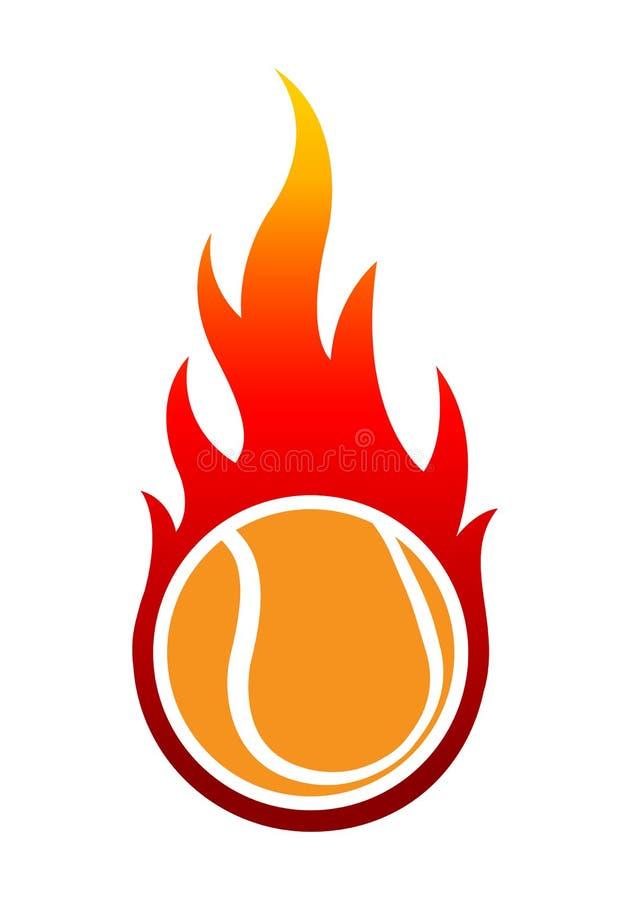 Vector el ejemplo de la pelota de tenis con sha simple clásico de la llama ilustración del vector