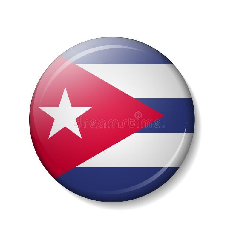 Vector el ejemplo de los botones de la bandera de CUBA, iconos redondos del vector 3d libre illustration
