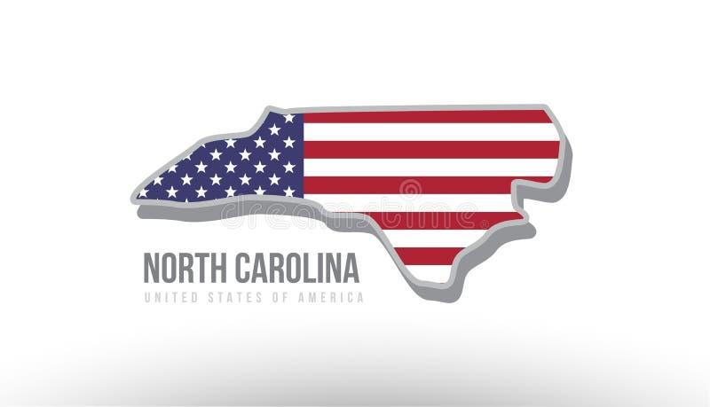 Vector el ejemplo de un estado del condado con la bandera de los E.E.U.U. Estados Unidos ilustración del vector