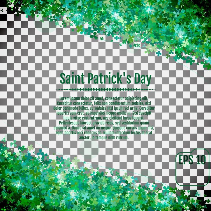 Vector el ejemplo de un fondo del día del ` s de St Patrick Vector IL stock de ilustración
