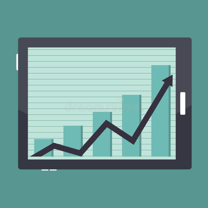 Gráfico del éxito de la tableta del negocio ilustración del vector