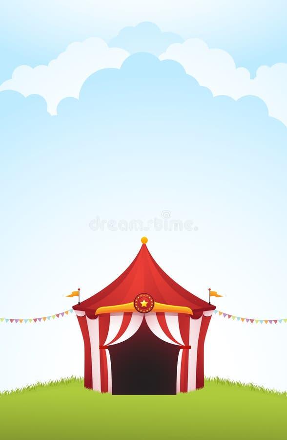 Tienda de circo libre illustration