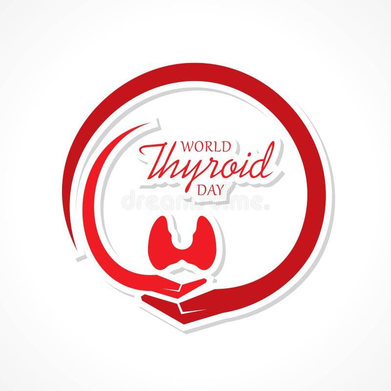 Vector el ejemplo del cartel del día de la tiroides del mundo - concepto médico libre illustration