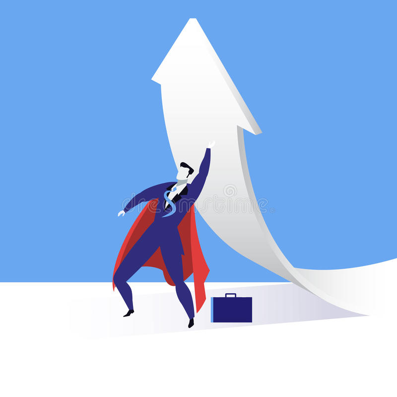 Vector el ejemplo del hombre de negocios estupendo, diseño plano del estilo libre illustration