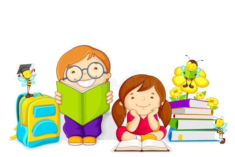 El estudiar de los niños stock de ilustración