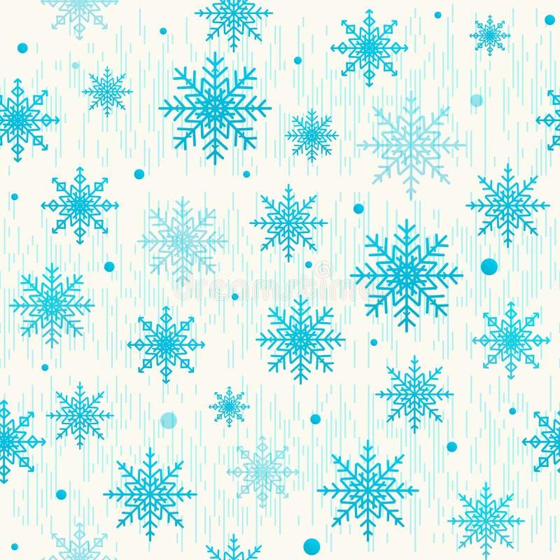 Vector el ejemplo del modelo inconsútil de la Navidad con el copo de nieve ilustración del vector