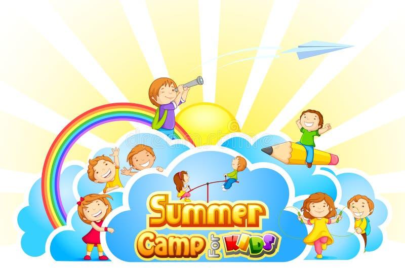Campamento de verano para los niños stock de ilustración