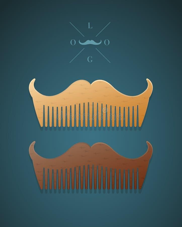 Vector el ejemplo del peine elegante en la forma de bigotes libre illustration