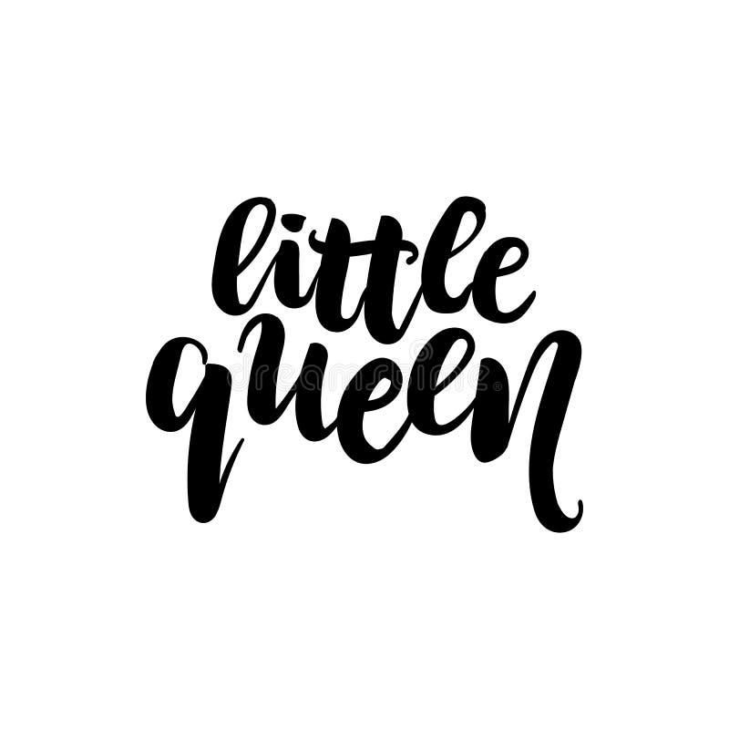 Vector el ejemplo del pequeño texto de la reina para la ropa de las muchachas Los niños badge, marcan con etiqueta, el icono, ban libre illustration